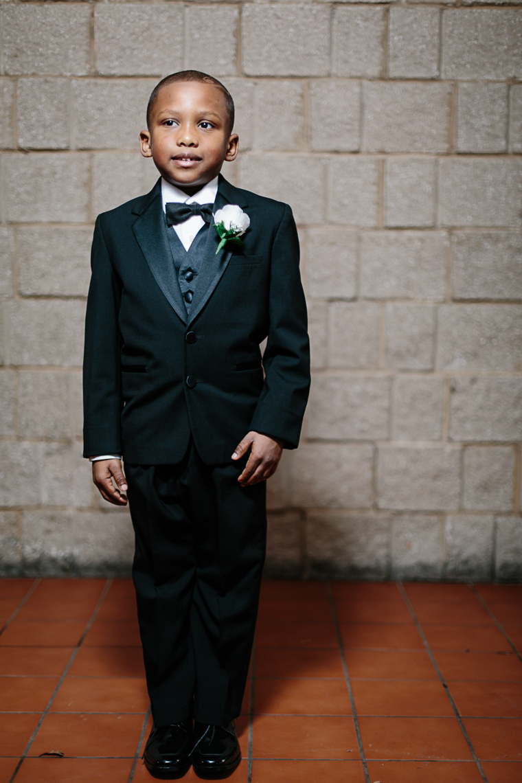 Amir Bruce, age 6, wears his tuxedo proudly at the 500 Black Tuxedos Event, organized by Andre Lee Ellis on Saturday December 12th, 2015 in Milwaukee, Wisconsin.