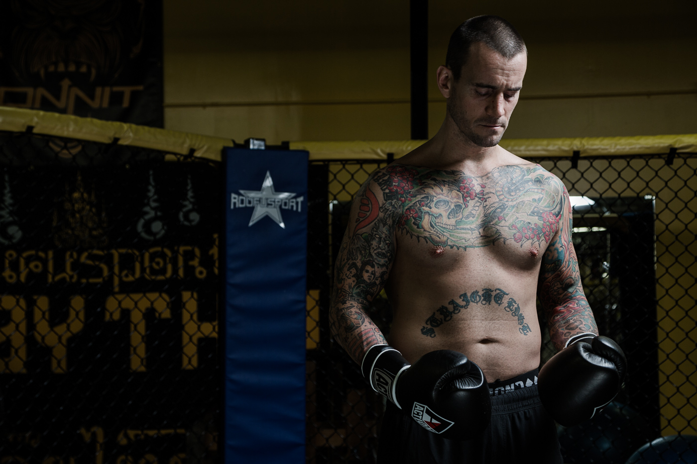 CM Punk (Phil Brooks) training at Roufusport Gym.