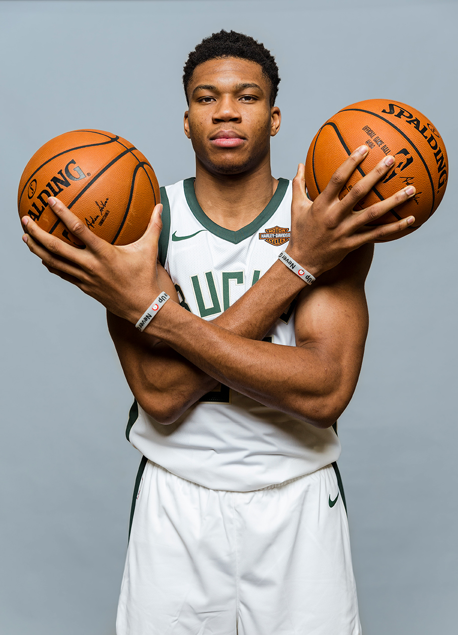 Giannis Antetokounmpo of the Milwaukee Bucks photographed on September 14th, 2017.