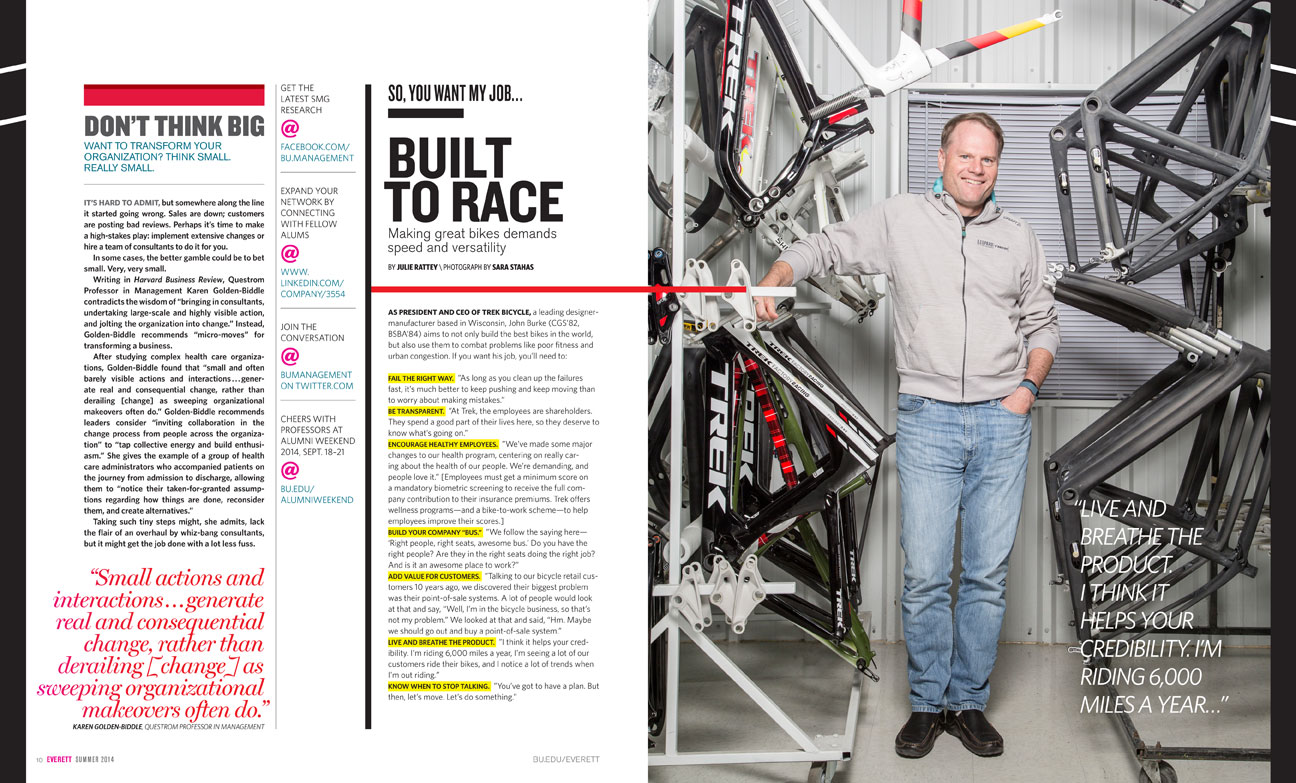 John Burke, CEO of TREK Bicycles