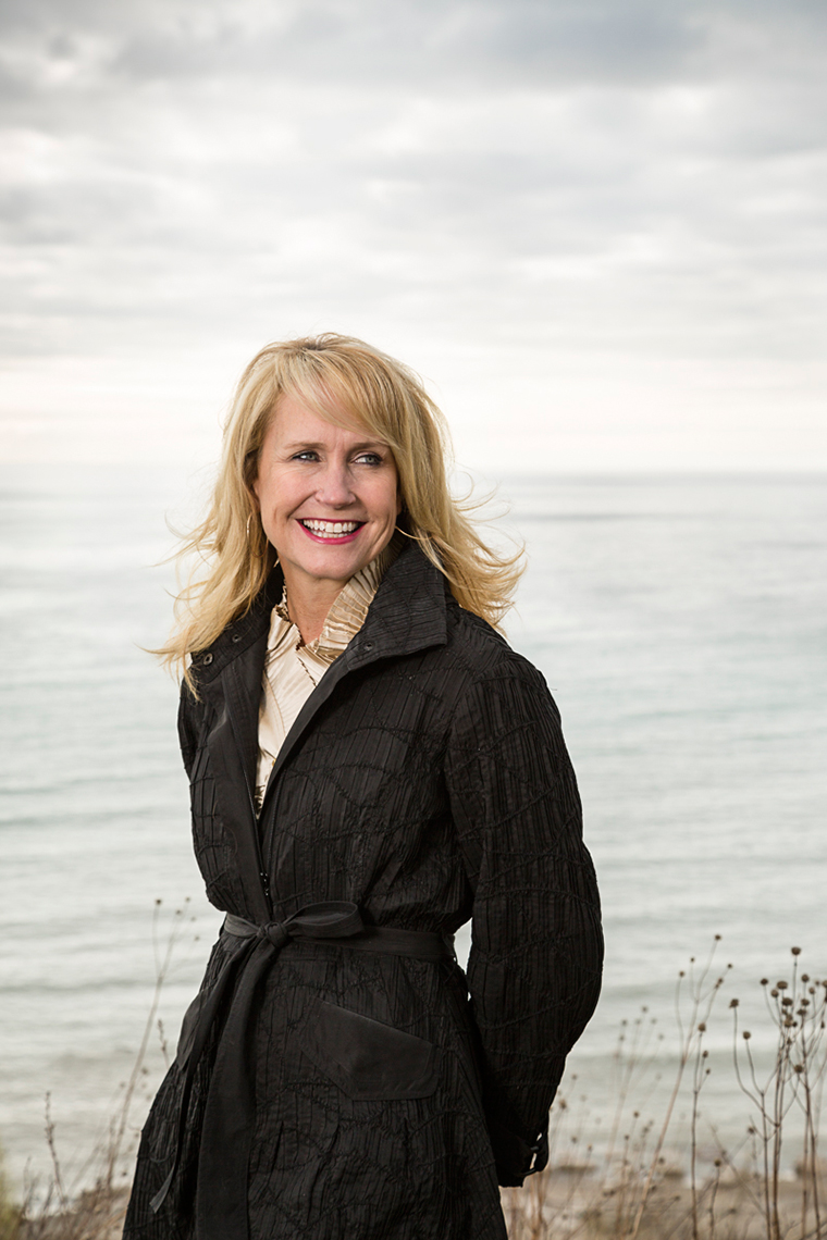 Kim Marotta of MillerCoors, photographed on Lake Michigan on the Concordia University Campus (Mequon), North of Milwaukee, Wisconsin