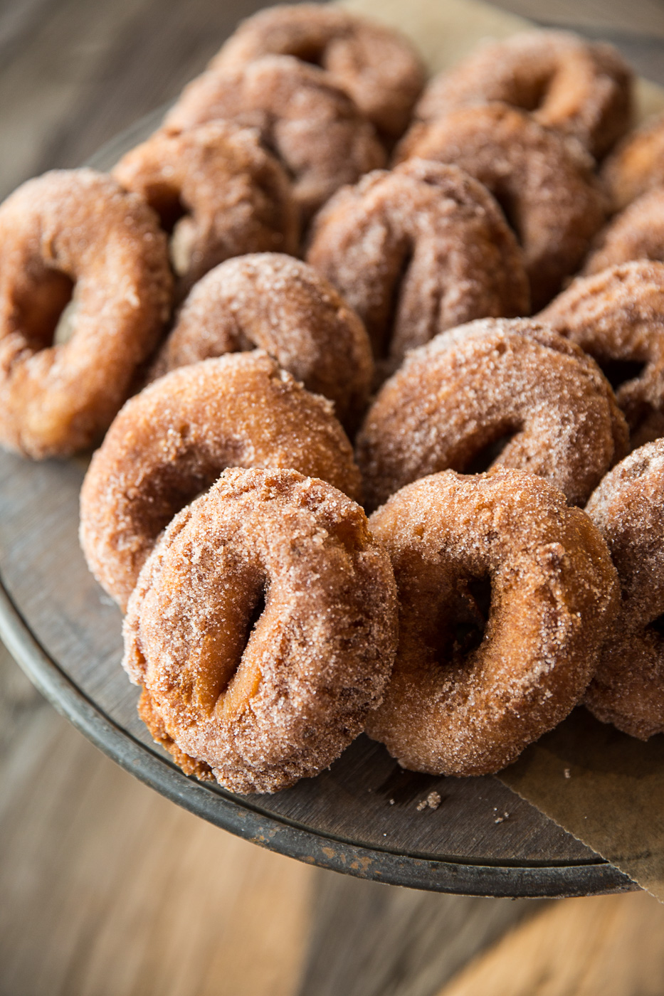 The Peck and Bushel orchard retail shop sells fresh apple cider doughnuts.