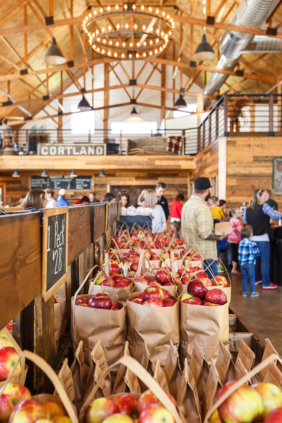 Peck and Bushel Organic Orchard and Barn in Colgate, Wisconsin, September 2018